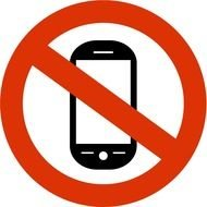 sign of mobile phone ban