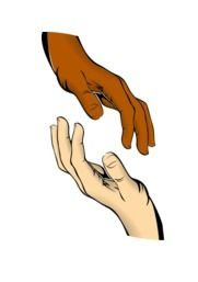 Two human hands clipart
