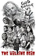 Walking Dead people poster Drawing