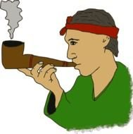 Smoking Pipe Clip Art drawing