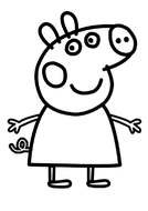 coloring page with Peppa Pig