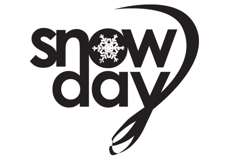 Snow Day, lettering with snowflake