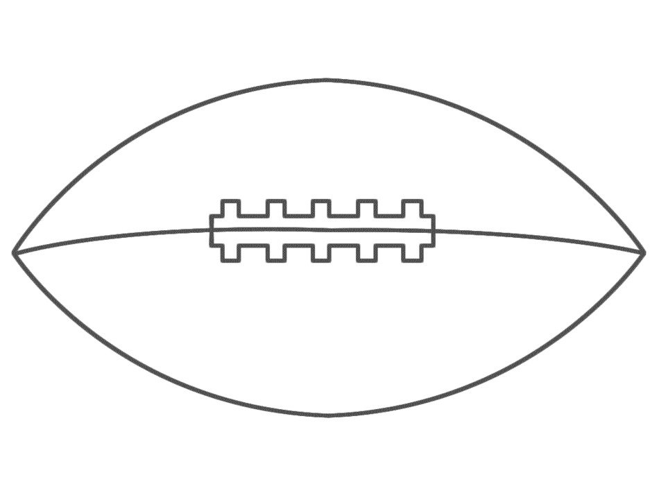 american Football, ball, outline, Coloring Page