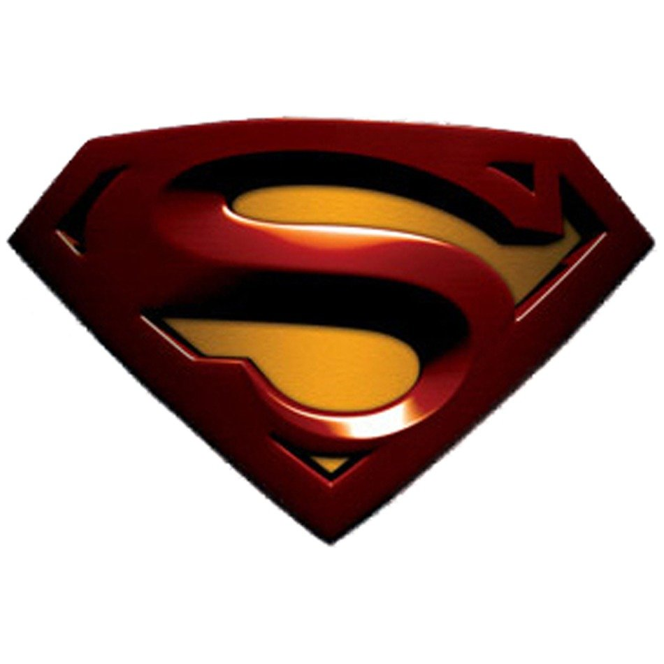 Colorful 3D logo of Superman clipart