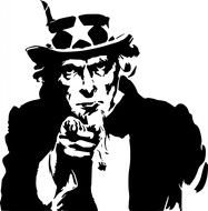 Uncle Sam Wants You Clip Art drawing