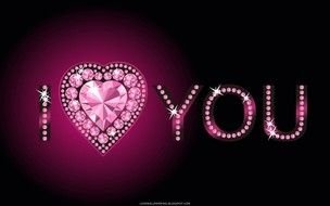 the word i love you with precious stones