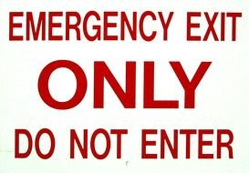 Emergency exit sign clipart