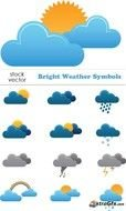 Bright Weather Symbols clipart