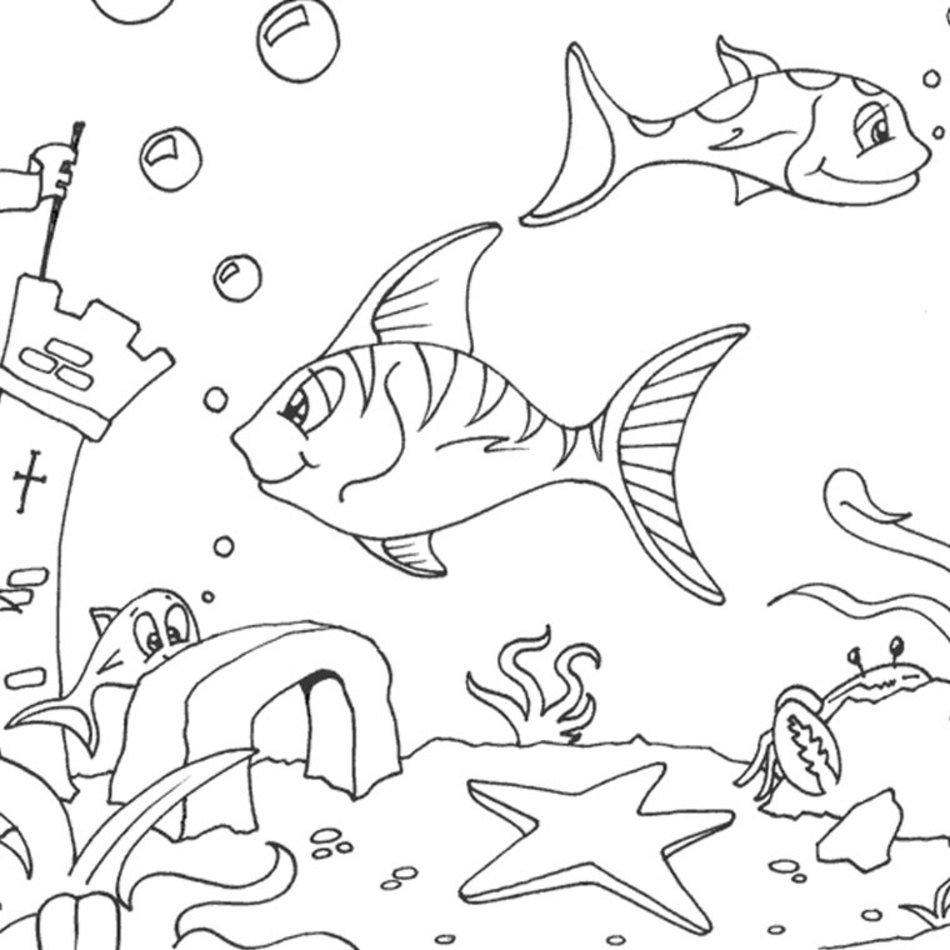 Coloriage Mer Poisson A Imprimer Gratuit Free Image