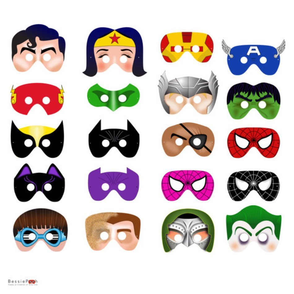 photograph relating to Printable Superhero Masks known as Printable Superhero Masks N2 free of charge picture