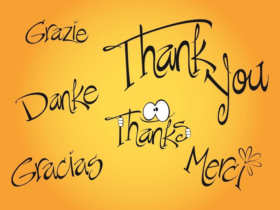 clipart of the Thank You letters