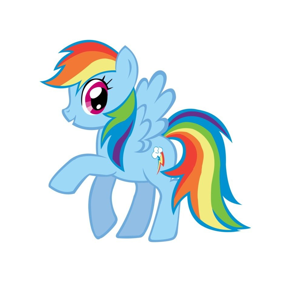 My Little Pony Rainbow Dash blue drawing