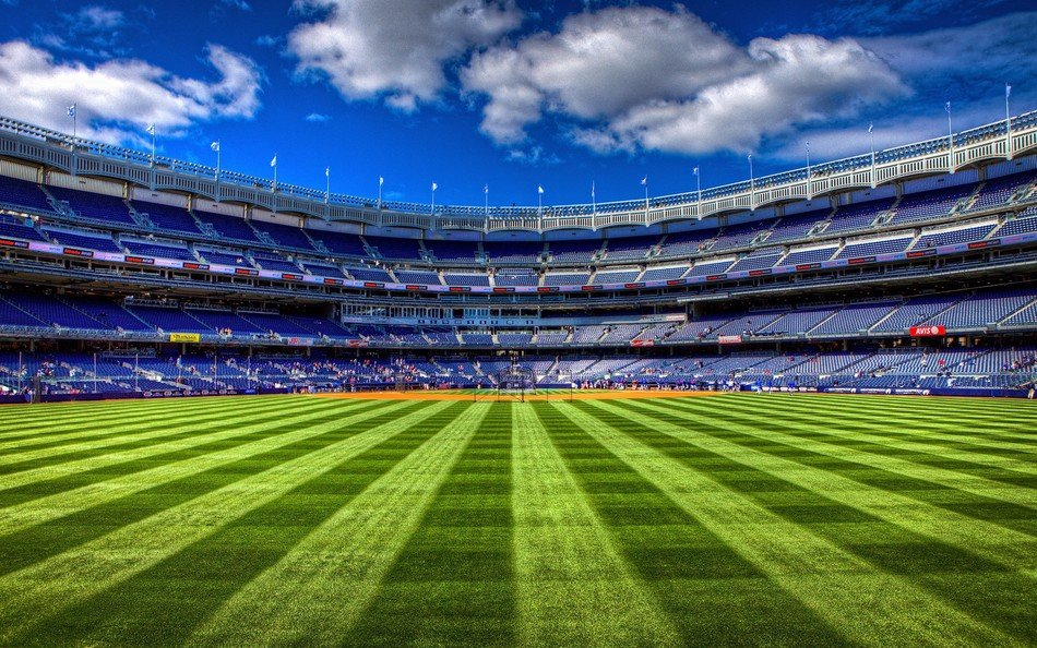 Yankee Stadium - a baseball stadium located in the South Bronx
