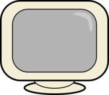Computer Screen Clip Art drawing