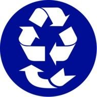 Recycle Symbol Clip Art drawing