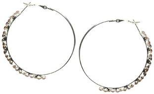 Girl Hoop Earrings drawing