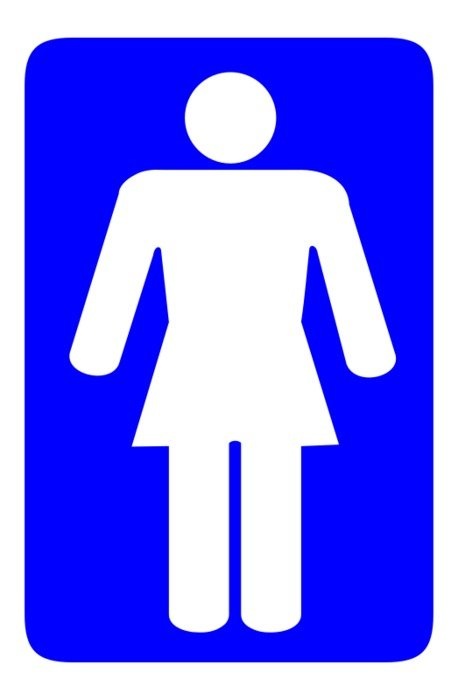 Sign of the toilet for women clipart