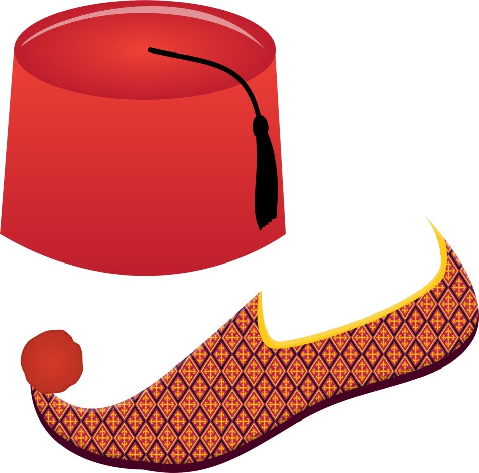 Fez And Turkish Shoe as illustration