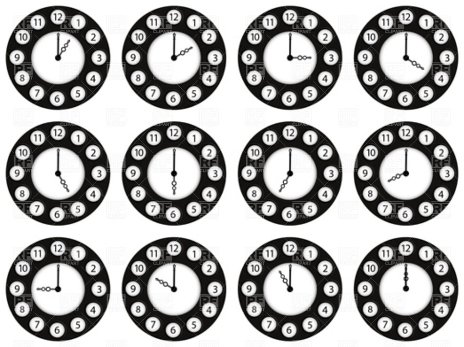 Clipart of the Digital Clocks