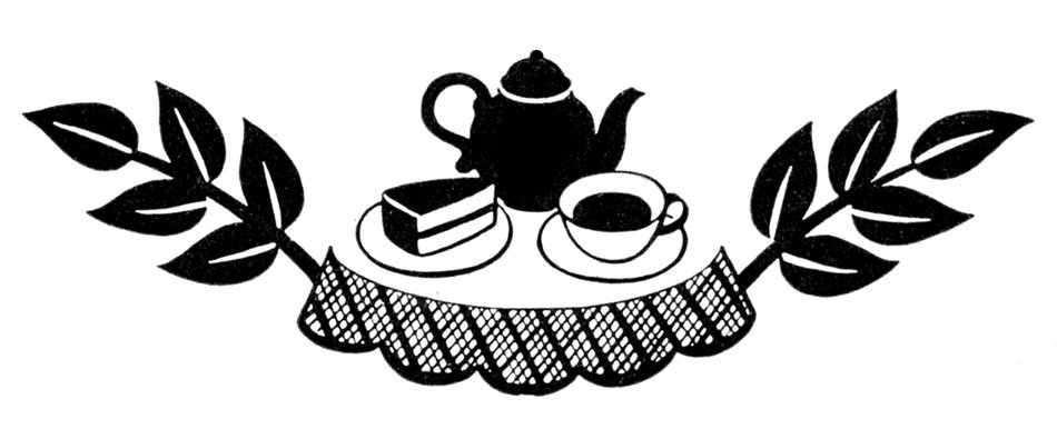Tea and cake Party Clip Art drawing