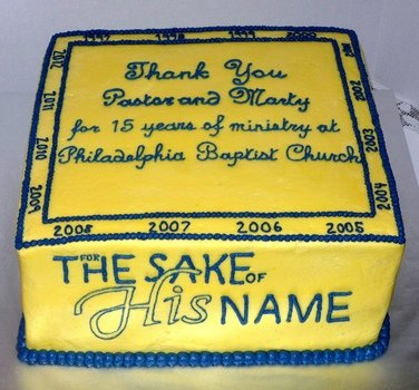 cake for church anniversary celebration