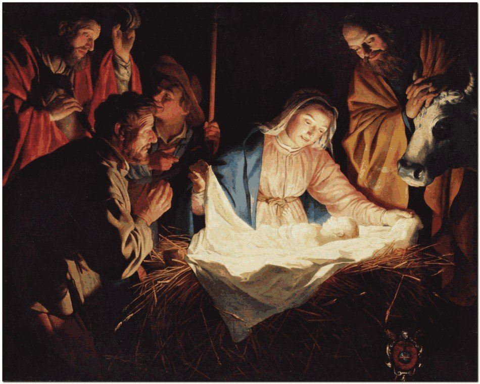picture of jesus birth for christmas