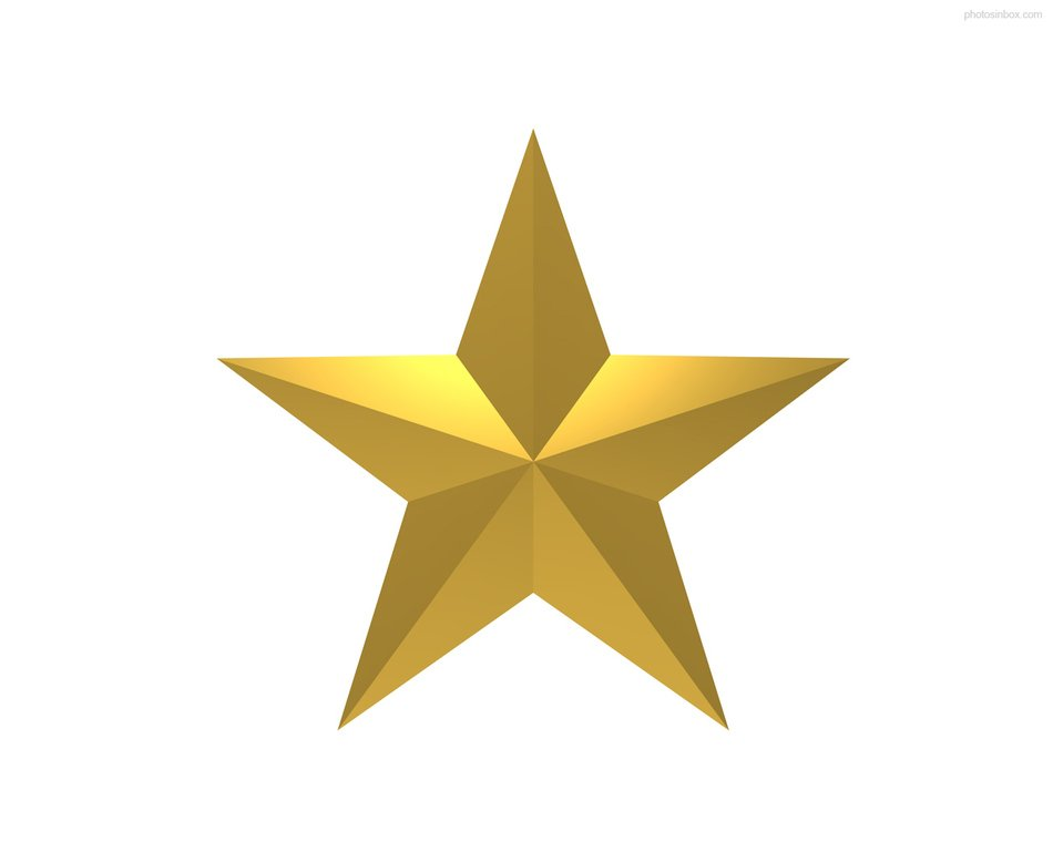 Gold Star Symbol drawing