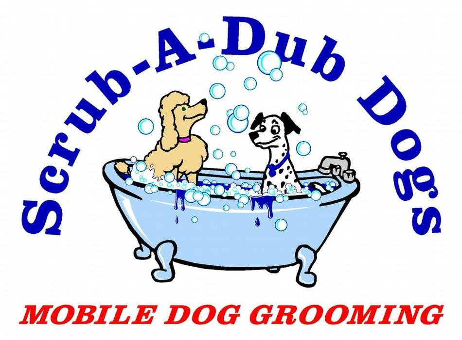 mobile Dog Grooming, funny Logo
