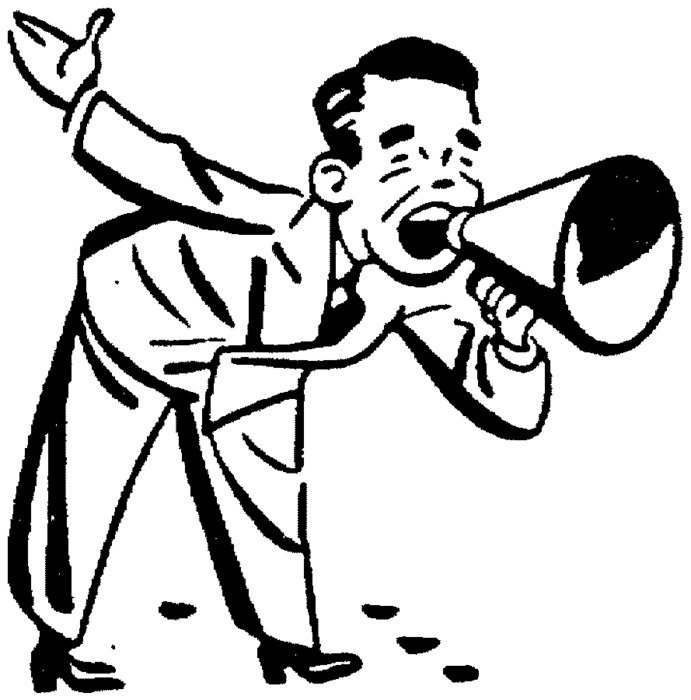 Clip art of Man With Megaphone
