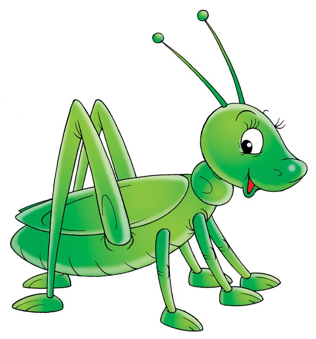 Cartoon Grasshopper Clip Art drawing