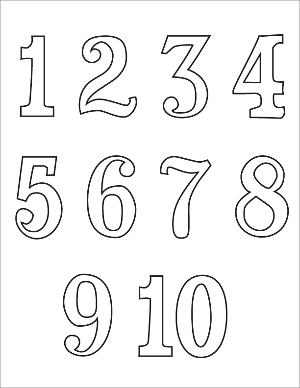 It's just a photo of Free Printable Numbers 1-10 intended for oversized