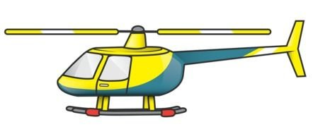 Helicopter Clip Art drawing