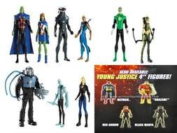 Colorful Young Justice figures