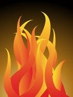 Fire Flames Clip Art drawing