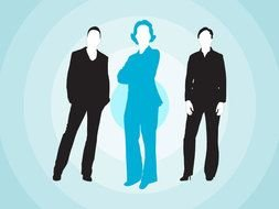 Womens Power Business Suit drawing