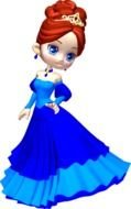 princess in a blue dress as a graphic image