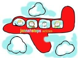 Kids Airplane Clip Art drawing