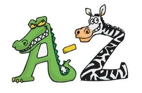 Animal Shaped Letters A to Z