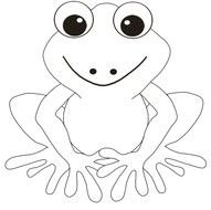 clipart of the cute frog