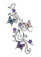 Clip art of the Butterfly Tattoo Design