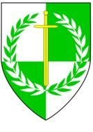 green coat of arms with a wreath as a graphic image