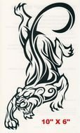 Black and white tattoo of the tiger clipart
