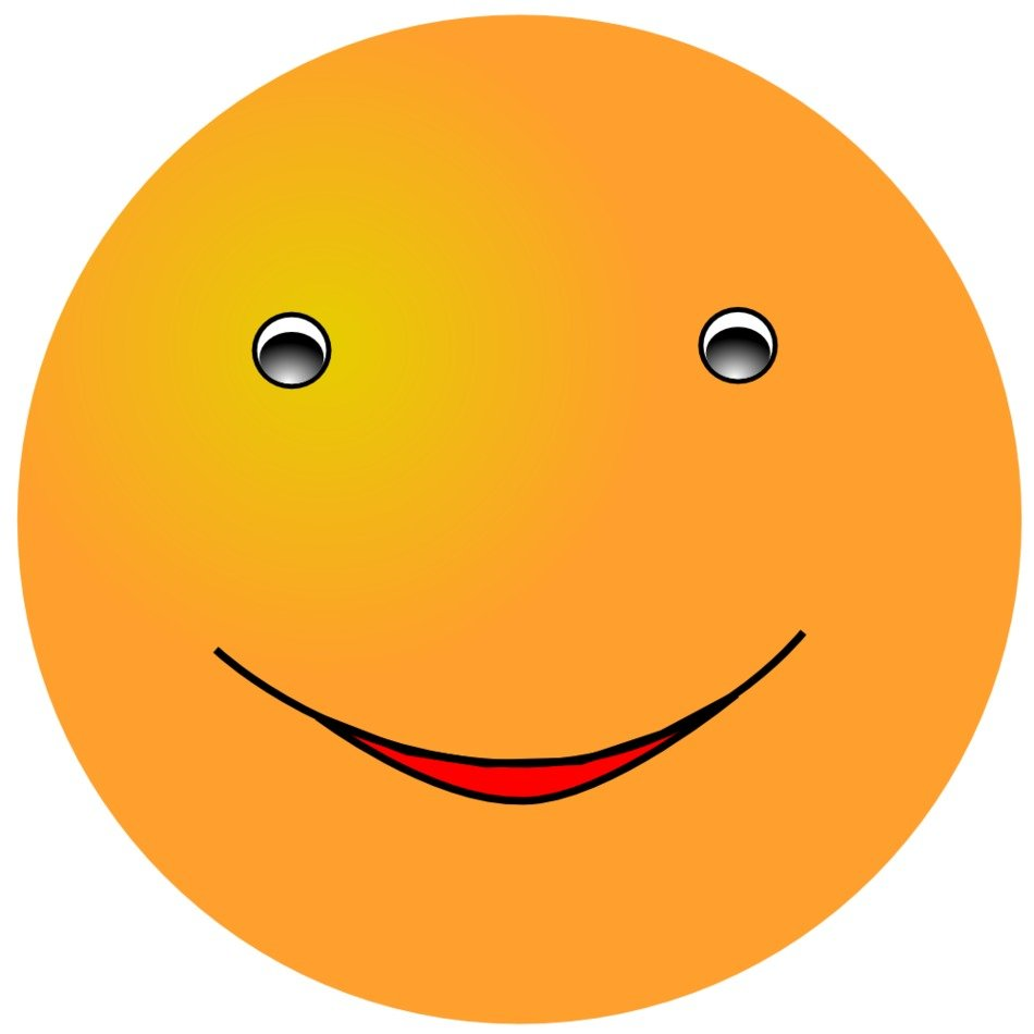 orange smiley with a smiling face