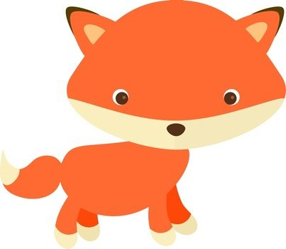 Clipart of Cute Fox