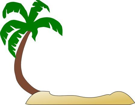 Hawaiian Palm Trees Clip Art N17