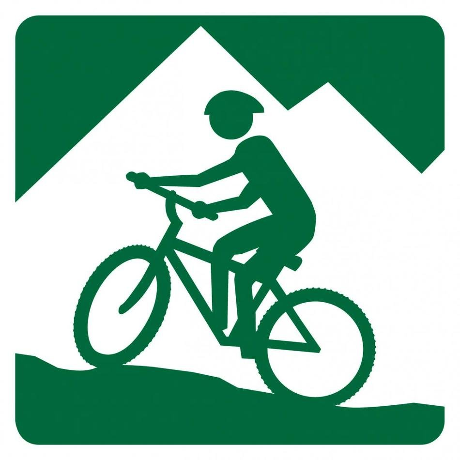 icon with mountain bikes