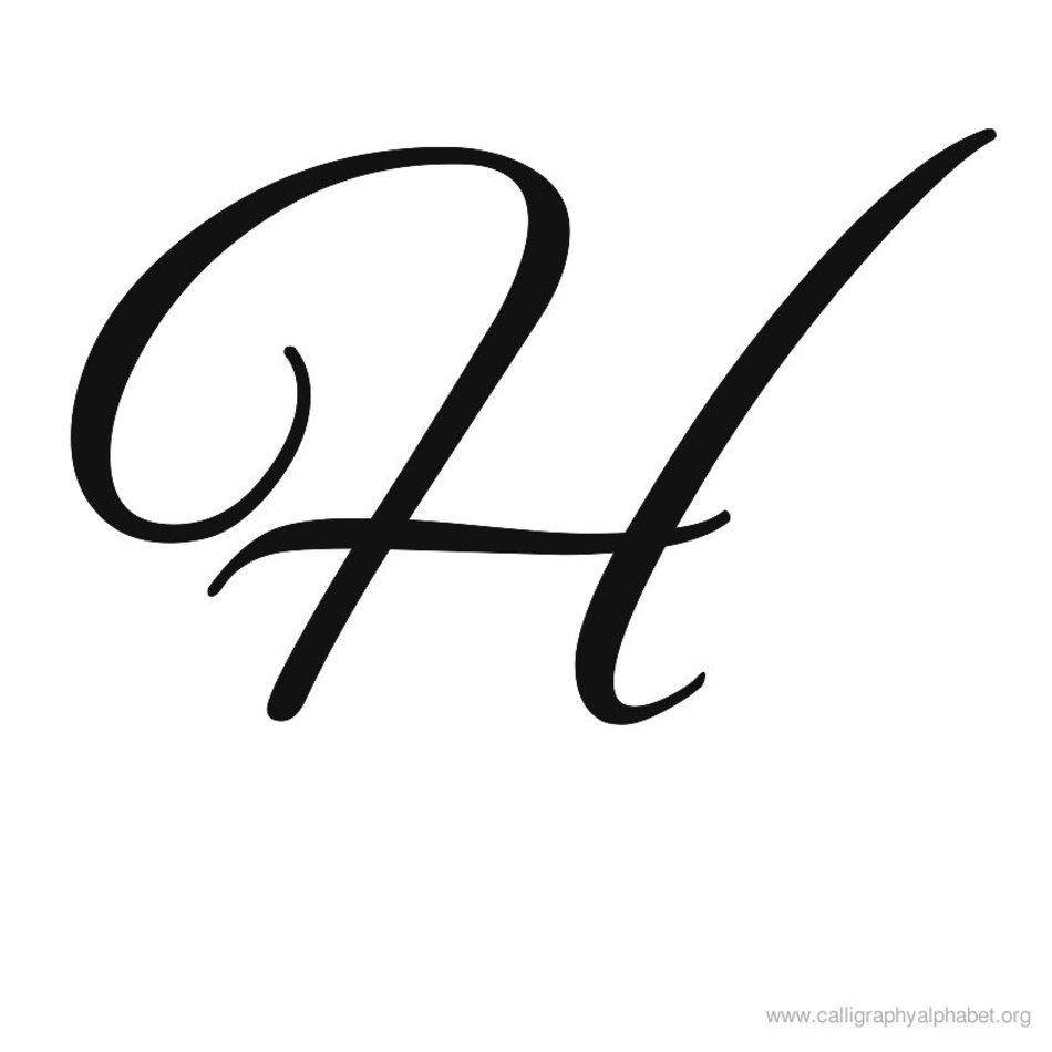 Fancy Cursive Letter H N2 Free Image