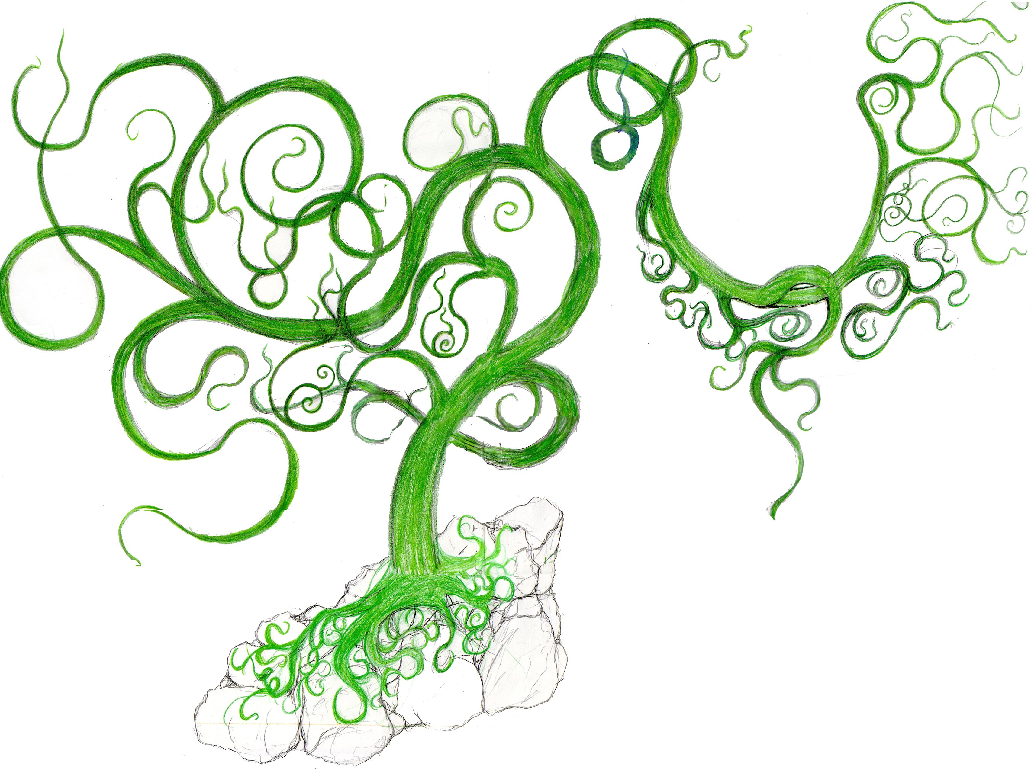 Flower Vine Tattoo Stencil Designs free image
