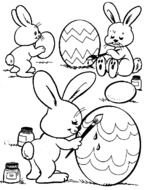 Easter Coloring Page drawing