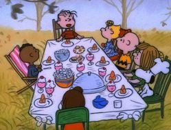 Charlie Brown Thanksgiving drawing